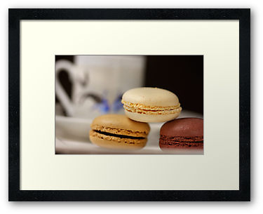 Espresso Time With Macarons © Liz Collet